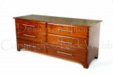 Lowboy chest of drawers in sapele