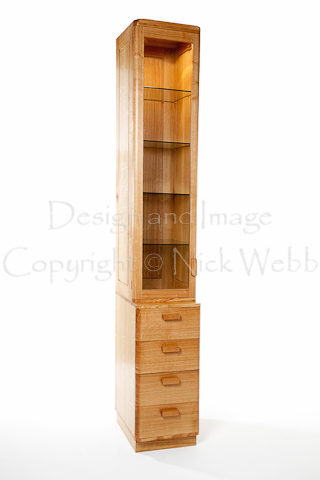 Superieur The Tall Narrow Shape Of This Display Cabinet Was Dictated By The Alcove In  Which It Had To Fit. Solid Oak Was Used Throughout, Including The Side And  Back ...