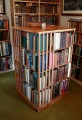 Revolving bookcase in elm